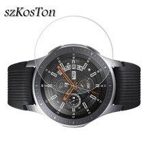 2 ชิ้น/ล็อตกระจกนิรภัยสำหรับ Samsung Galaxy นาฬิกา 42mm 46mm 9H 2.5D สำหรับ Samsung galaxy นาฬิกา 46 มม.