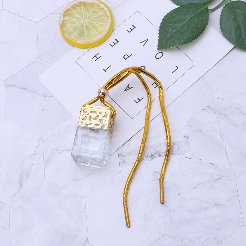 Home Car Hanging Air Freshener Diffuser Fragrance Clear Glass Empty Perfume Bottle Essential Oil Bottle Perfume Bottles Car Pend in Ornaments from Automobiles Motorcycles