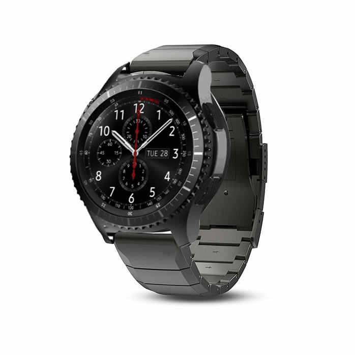 20mm 22mm Bracelet de montre en métal pour Huawei montre GT2 Bracelet pour Samsung Galaxy 46mm engrenage S3 Bracelet de poignet Amazfit 2 installation rapide