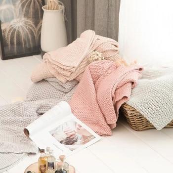 100% Cotton Nordic Style Throw Blanket Bedroom Blankets Departments Living Room Outdoor Rooms