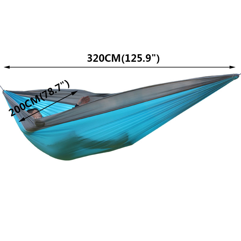 Ultra-Large 210T Hammock Hammock Double 2 Person Travel Camping - Mobiliário - Foto 4