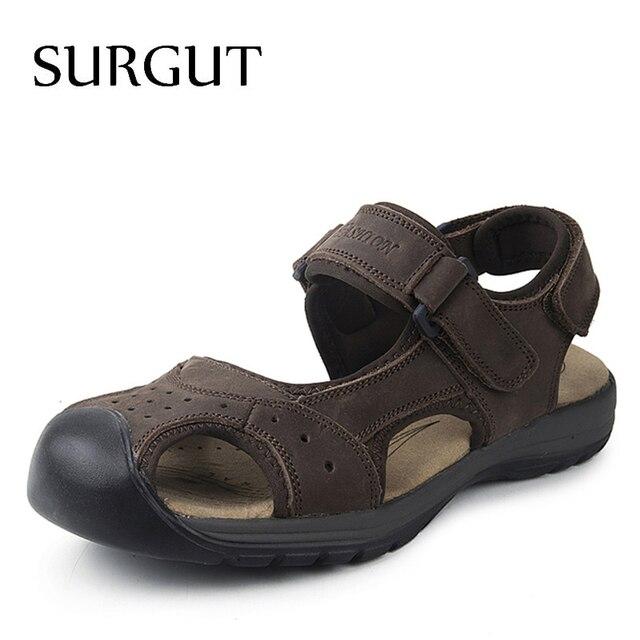 Surgut New Fashion Summer Sandals Men Shoes 2019 Brand Breathable