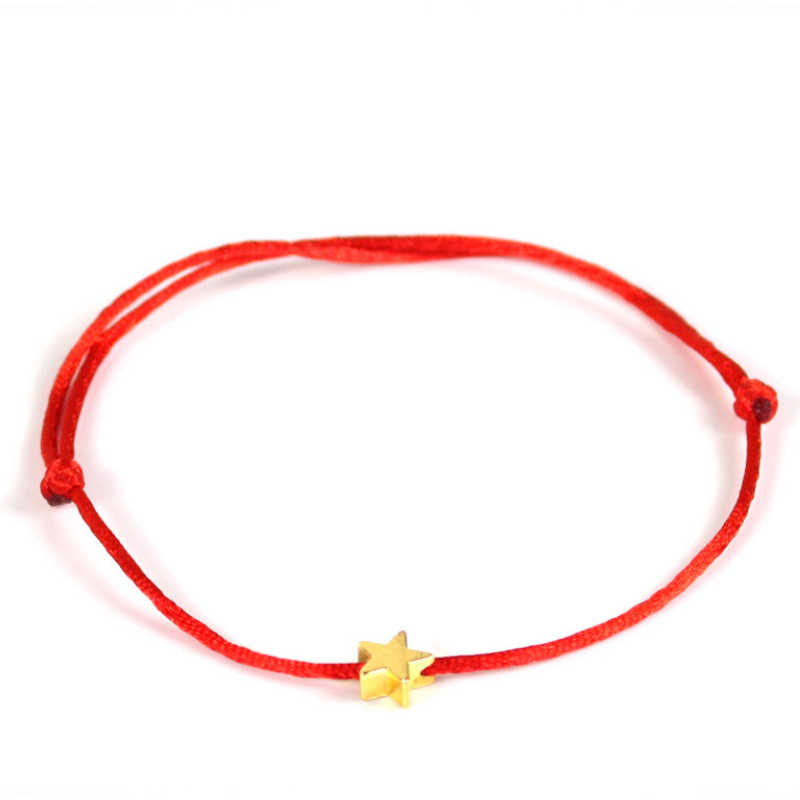 Hot Lucky Golden Cross Heart Bracelet For Women Children Red String Adjustable Handmade Bracelet DIY Jewelry