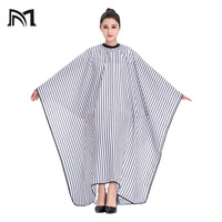 Drop shipping 2 Colors Polyester Salon Wrap Apron Stripe Leisure Style Peri Cloth Water repellent Cape Hairdressing Assistant B1
