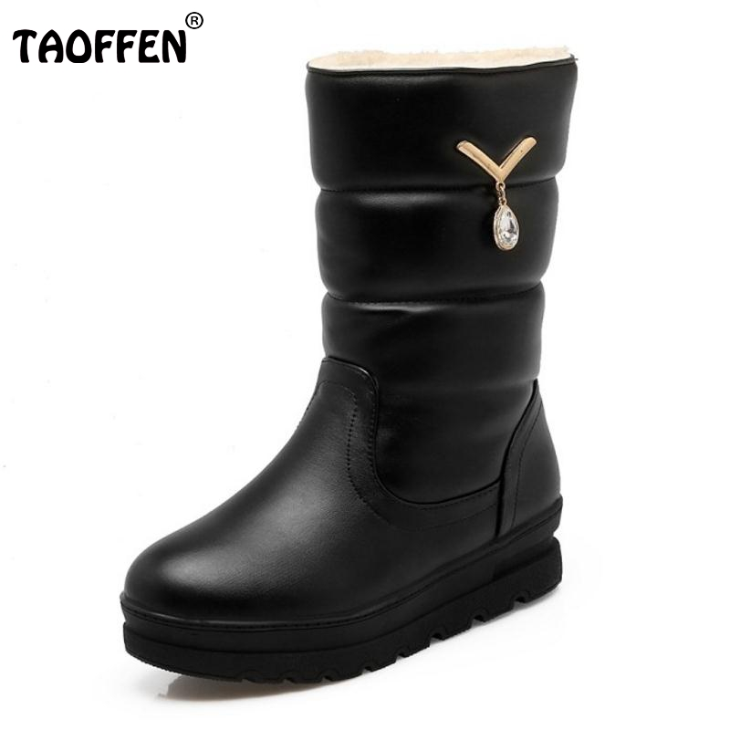New Winter Warm Snow Boot Woman Fashion Platform Fur Cotton Shoes Flat Heels Mid Calf Boots Women Bootines Mujer Size 33-42 free shipping men women unisex outdoor military tactical backpack camphiking bag rucksack 50l molle large big ergonomic gear