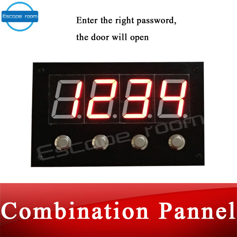 digital board Real life escape room game prop combination buttons panel for escape mysterious room adventure game props