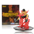 "6 ""14 cm One Piece Punhos de Fogo Ace-Portgas D Ace Fogo Cruzado Batalha Ver. Zero PVC Action Figure Toy Model Collection #031"