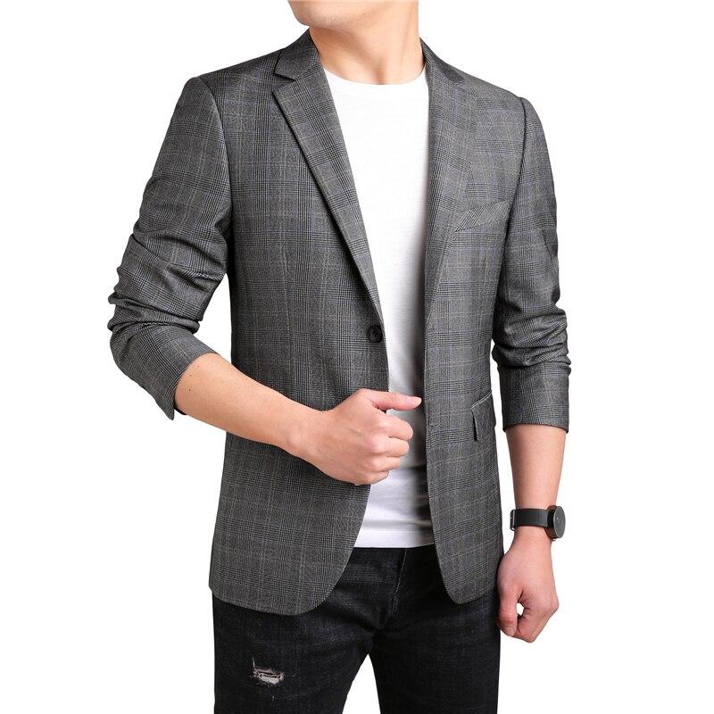 KOLMAKOV 2019, мужские повседневные блейзеры, приталенный, роскошный, для выпускного, пиджак, Homme, Весенняя мода, блейзер для мужчин, блейзер цвета ... - 3