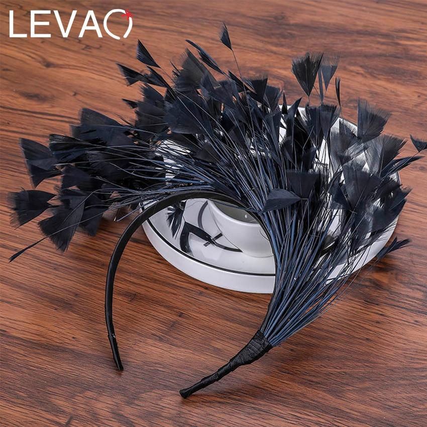 Levao Halloween Feather Headband Women Festival Hairband Feather Hair Hoop Bands Party Headdress Female Hair Accessories