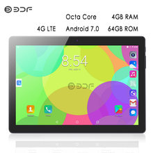 Baru 10 Inch Asli 3G 4G LTE Panggilan Telepon Tablet PC Android 7.0 Octa Core 4GB RAM 64GB ROM WIFI GPS IPS HD LCD Tablet Laptop(China)