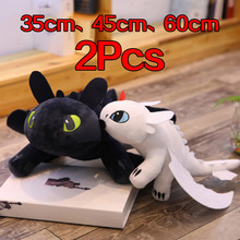 35cm 45cm 60cm How to Train Your Dragon 3 Toothless c Toys Anime Figure Night Fury Dragon Plush Doll Toys For Children