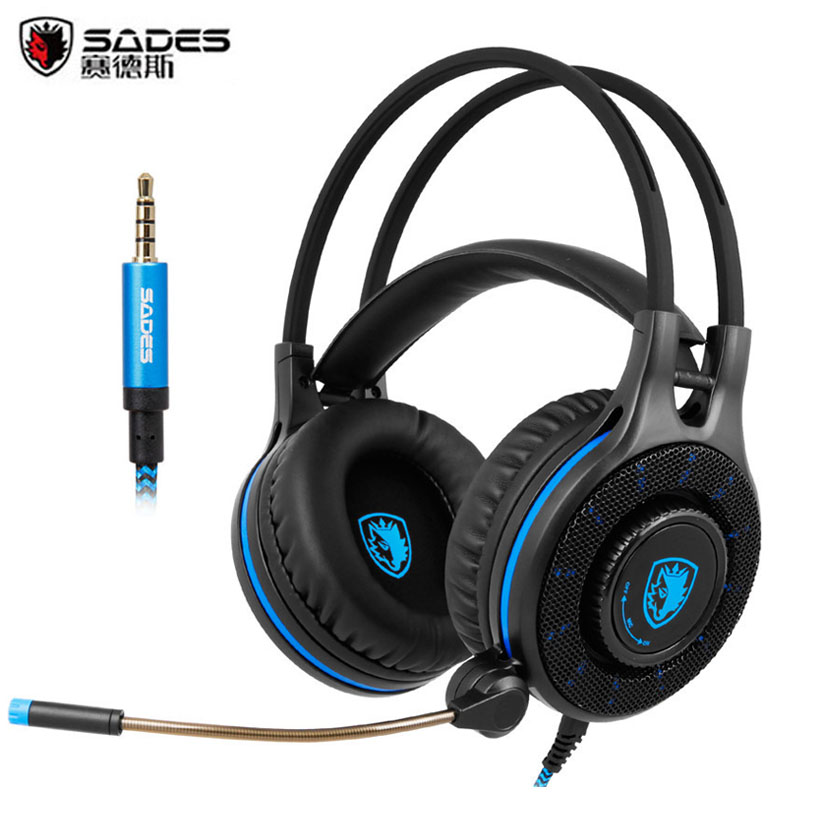 Sades SA936 Gaming Headset Stereo Game Headphones with Microphone for 2016 New Xbox one PS4 PC Laptop iPad iPod casque sades wings headphones 3 5mm phone call and music earphone portable in ear gaming headset for pc xbox one ps4
