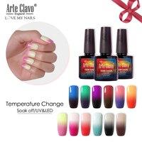 Arte Clavo Temperatur Ändern Gel Lack Gel Nagellack Maniküre Thermo Gel Polish Nail art Stimmung Ändern Farbe Hybrid Lack