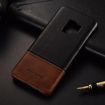 Luksusowa marka cienkie rocznika prawdziwej skóry tylna pokrywy skrzynka dla samsung galaxy s9 plus telefon casy i obudowy powłoki