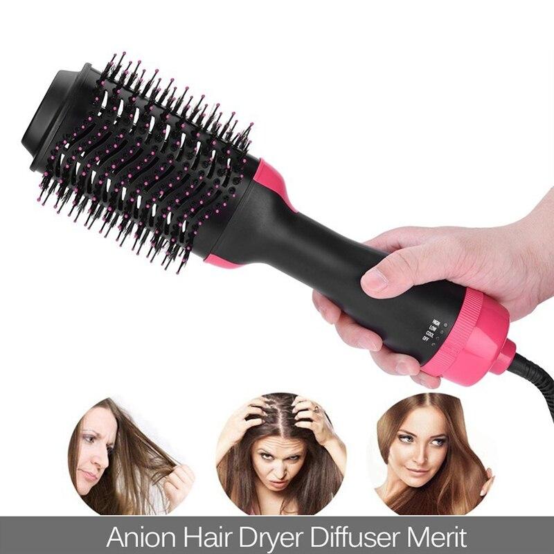 Профессиональный Выпрямитель для волос Электрический волос фен-щетка выпрямления гребень Отопление отрицательных ионной электрическая щ...