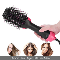 Professional Hair Straightener Electric Hair Dryer Brush Straightening Comb Heating Negative ionic Electric hot air Brush