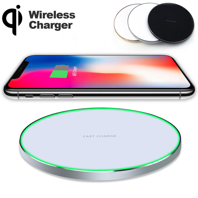 YILIZOMANA  Qi Wireless Charger Charging Pad for iPhone 8 8 Plus X Samsung Note 8 Galaxy S8,S8 Plus,S7 S9 S9+
