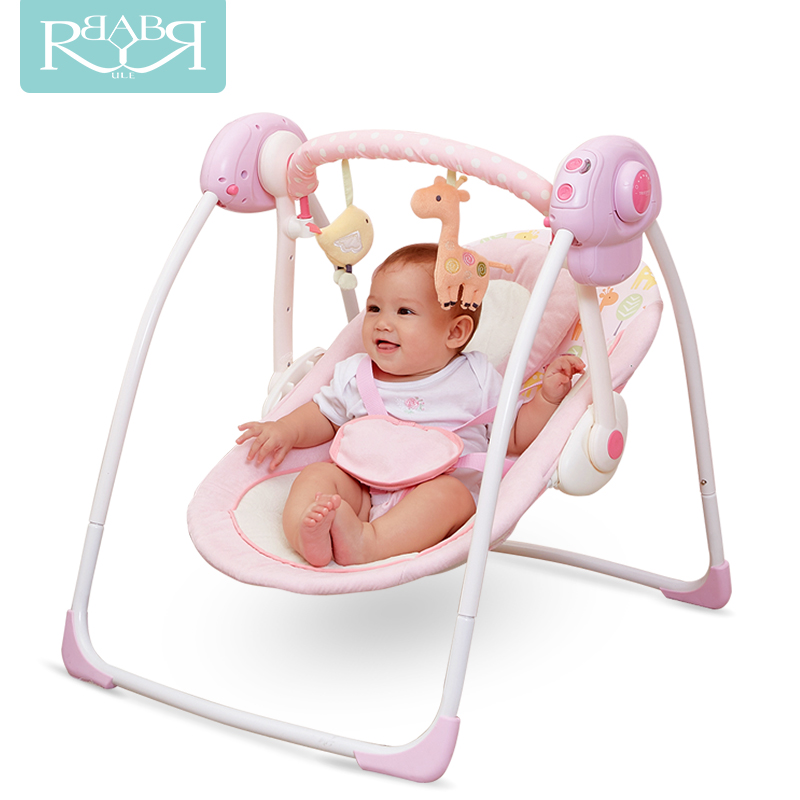 2018 new babyruler portable baby cradle newborn light   music rocking chair kid game swing mutifunctional portable adjustable infant baby swing rocking chair for newborn cradle lounge recliner recliner baby toys