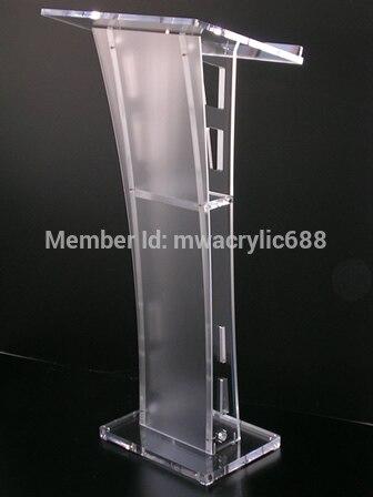 Free Shipping Beautiful Easy Cheap Detachable Acrylic Podium Pulpit Lectern Podium Plexiglass