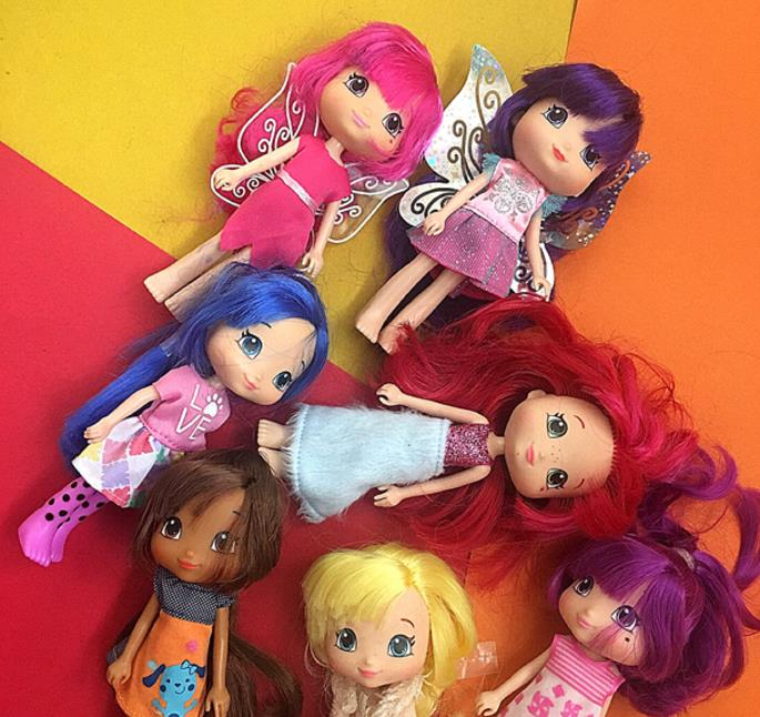 15cm Original Girls Strawberry Girl Princess Dolls 5 Joint Doll Toy Lovely Doll Christmas Gift