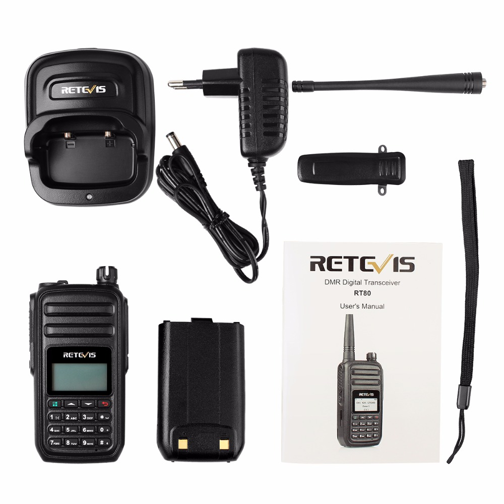 Image 5 - RETEVIS RT80 Ham Radio DMR Digital Walkie Talkie 5W UHF VOX FM Radio Portable Two Way Radio Amador Analog/Digital Transceiver-in Walkie Talkie from Cellphones & Telecommunications