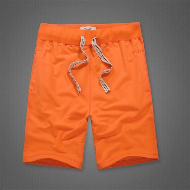 25ae84f2 US $12.87 35% OFF|Jednolity kolor Męskie spodenki 100% bawełna puste plaża  krótki kolano długość spodnie dresowe w Jednolity kolor Męskie ...