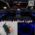 Para audi a3 quattro 2004 ~ 2016 car interior painel de luz ambiente de iluminação para o carro interior fresco faixa de luz óptica fibra de banda