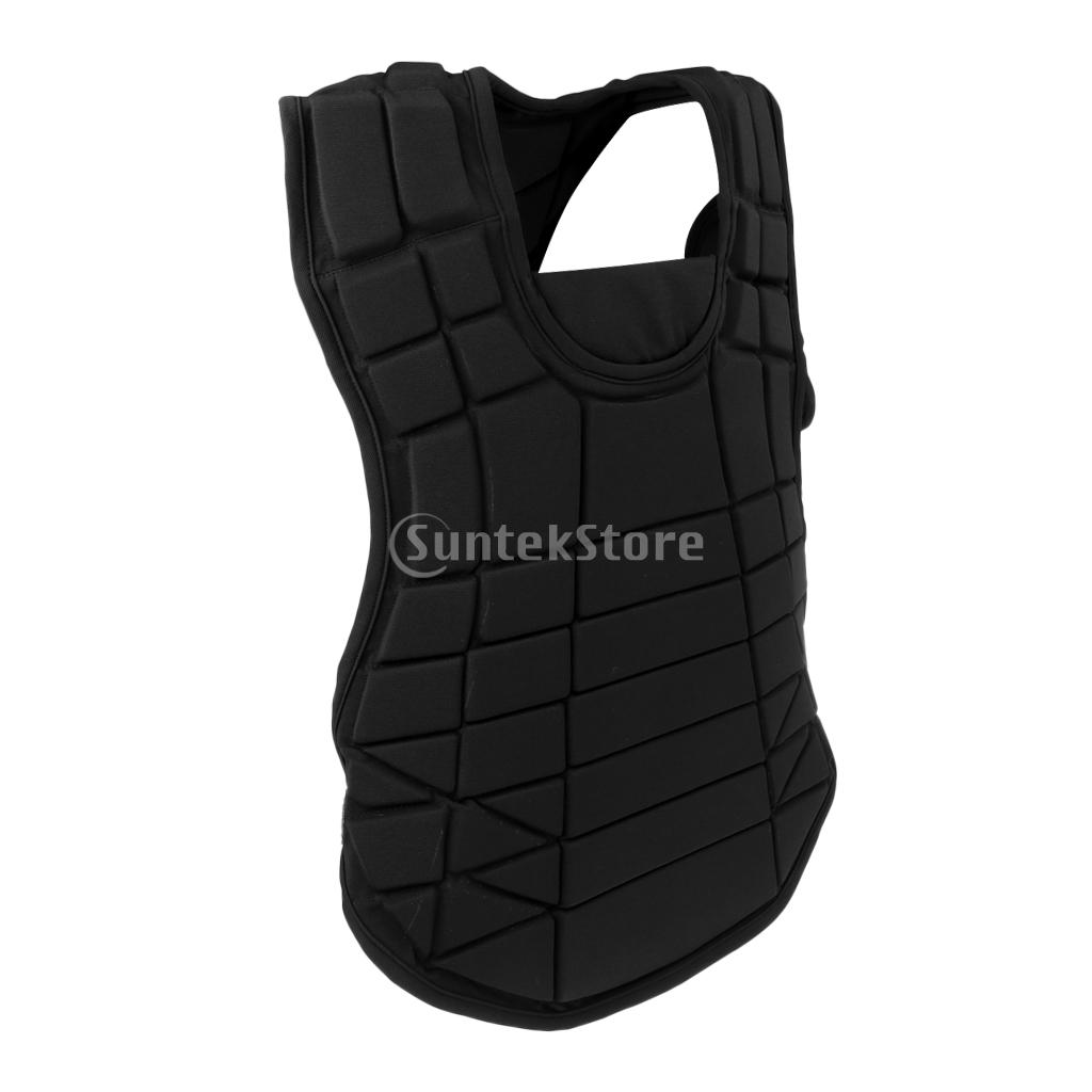 Equestrian Horse Riding Protective Vest Baseball Catcher's Body Protector safety equestrian horse riding vest protective body protector black adult sportswear camping hiking accessories shock absorption