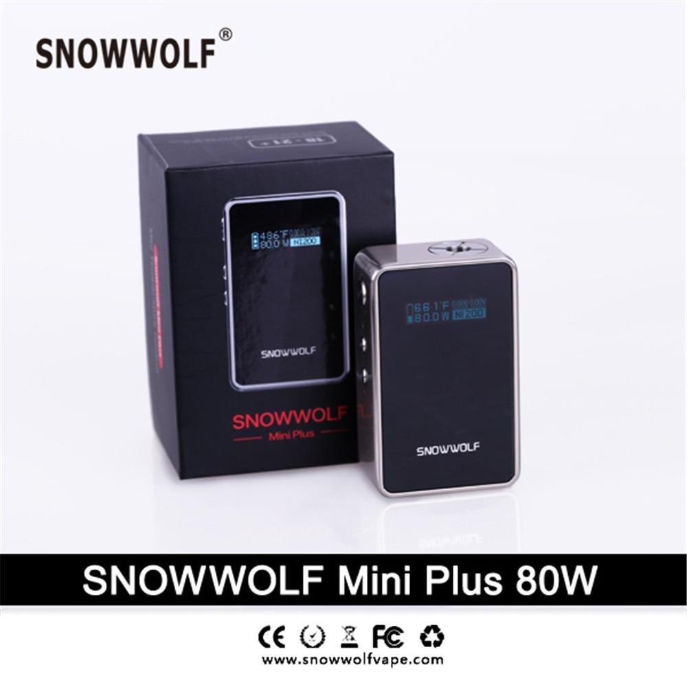 2017 100% original snowwolf mini plus 80w kit Built-in 3000mah battery Accurate temperature sensing by TCR  5.0W - 80W mx3 battery 3 battery m351 m355 phone b030 original built in battery