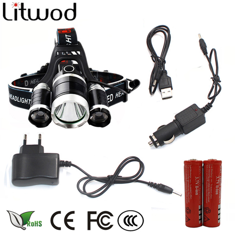 z10 led headlamp Headlight 9000 Lumen chips 3x XM-L T6 LED Head Lamp Flashlight head torch Headlamp battery Recharge Car charger lumiparty 4000lm headlight cree t6 led head lamp headlamp linterna torch led flashlights biking fishing torch for 18650 battery