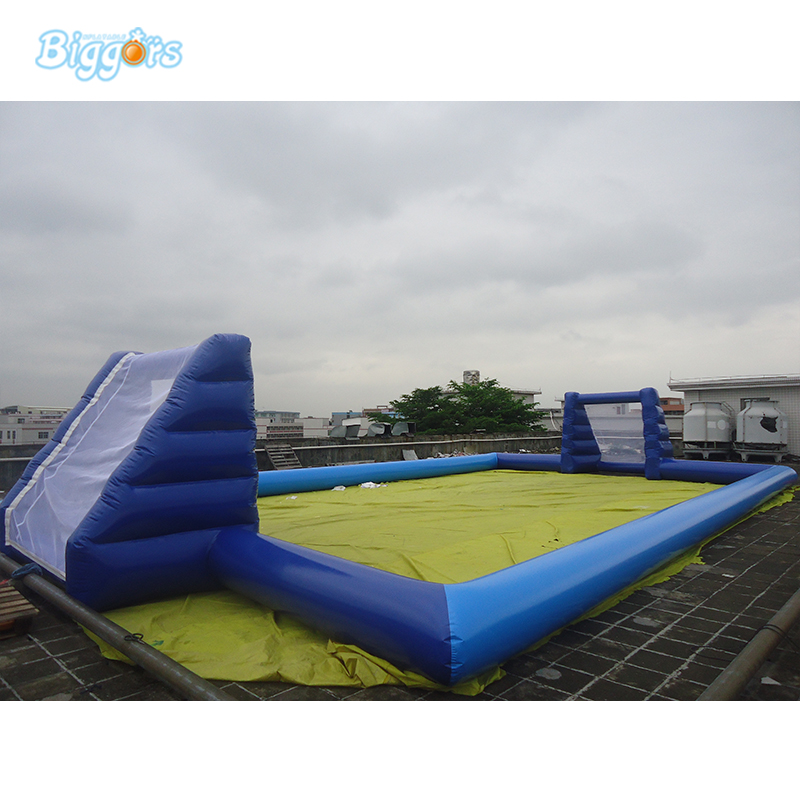 China inflatable soccer filed sport arena giant commercial inflatable football court sea shipping giant commercial inflatable kids soccer court football field with blowers