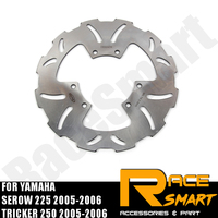 Motorcycle CNC Front Brake Disks Discs Stainless Steel Brake Rotor For YAMAHA TW 225 2005 2006 TRICKER 250 TW 225 TW 225