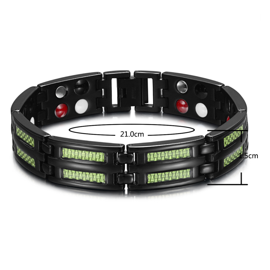 HTB1e0gSCCtYBeNjSspkq6zU8VXa6 - Titanium Bracelets 4 Health Elements Germanium Magnetic Bracelets for Arthritis