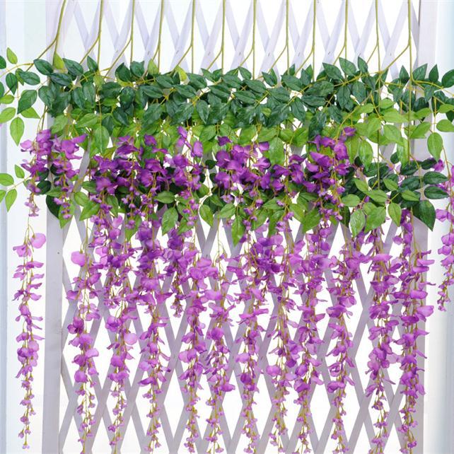 Aliexpress Buy Classic Artificial Flower Wisteria Vine