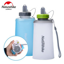 купить Naturehike 500ML 750ML Water Bottle TPU Folding Sports Straight Bottles Ultralight Transparent Silicone Water Cup дешево