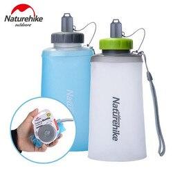 Naturehike 500ML 750ML butelka wody TPU składane sportowe proste butelki Ultralight przezroczysty silikonowy kubek wody