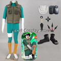 Free DHL Shipping  Hot Anime Naruto Cosplay Costume Naruto Rock Lee Cosplay Costume Uniform Full Set As The Picture