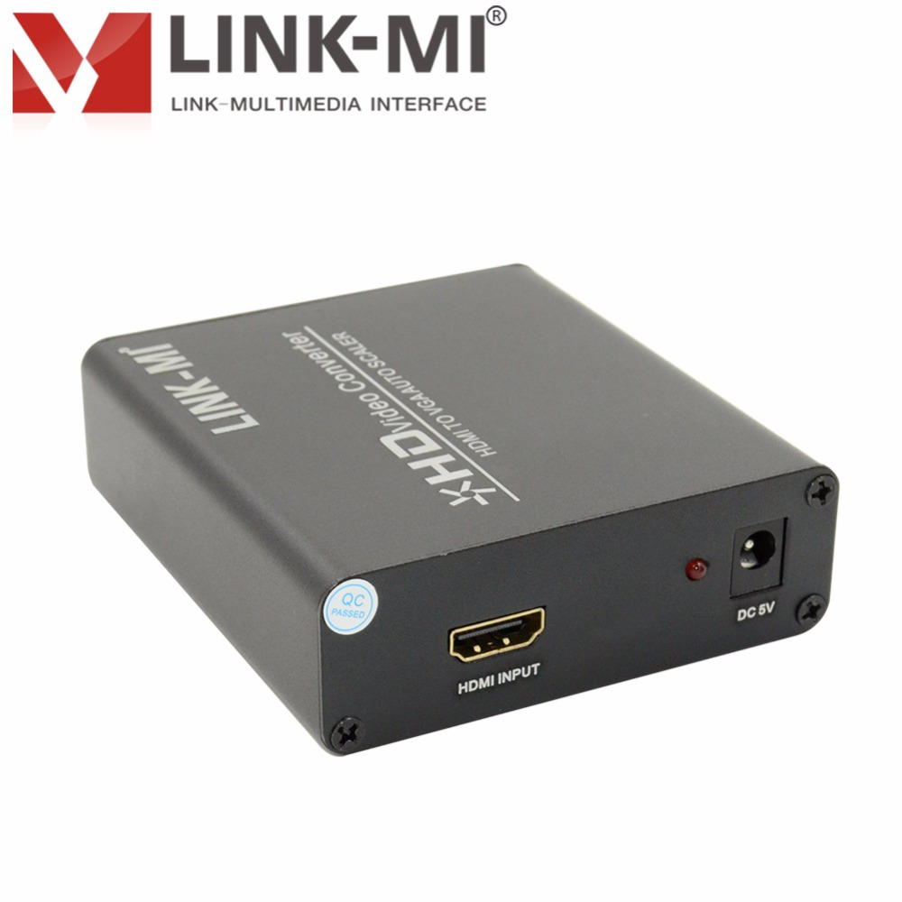LINK-MI HV01 HDMI vers VGA Auto Scaler HD convertisseur vidéo avec sortie Audio pour moniteur HD TV CRT/LCD/projecteur LED jusqu'à 1080 p