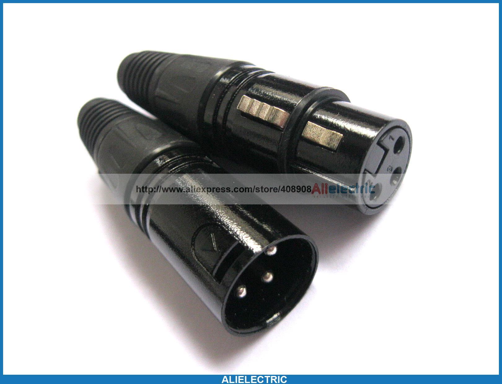 10 Set 3pin XLR Câble Audio Connecteur Mic Prise Jack B