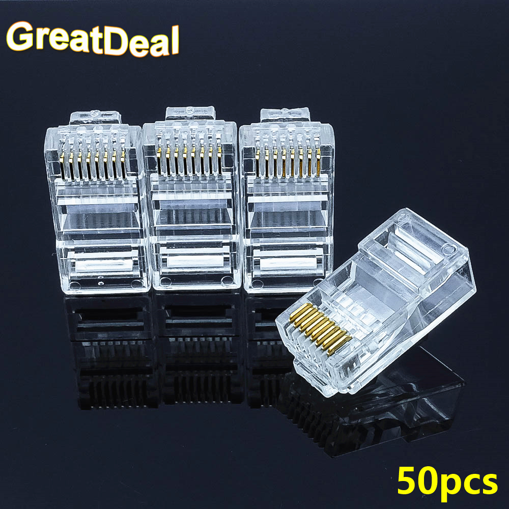 50pcs 8 Pin RJ45 Connector Cat6 Modular Cable Plug Cat 6 Network Ethernet Crystal Plugs RJ45 Connectors HY1564 antonelli пиджак