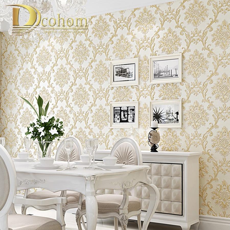 Europäischen Stil Moderne Wallpaper Design Damast Geprägte 3D ...