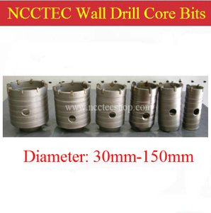 NCCTEC 105mm diameter carbide wall drill bits cutters NCW105 | FREE shipping|pole floats|bit javapole hanger -