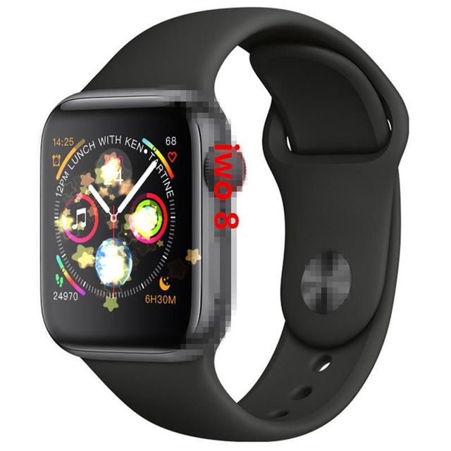 IWO 8 Smartwatch Case for Apple iOS iPhone Android Phone  Wristwatch Sport Bluetooth Bracelet Fitness Tracker pk IWO 5 6