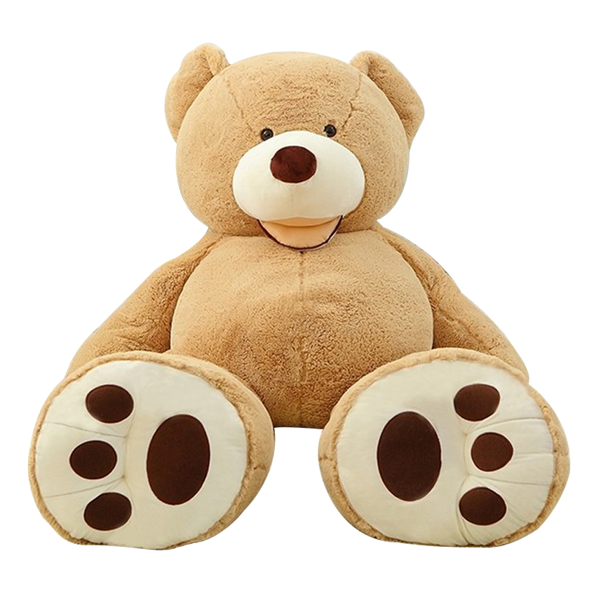 Selling Toy Big Size 160cm American Giant Bear Skin  kawaii Teddy Bear Coat Good Quality Factary Price Soft Toys For Girls giant size little marvels avx