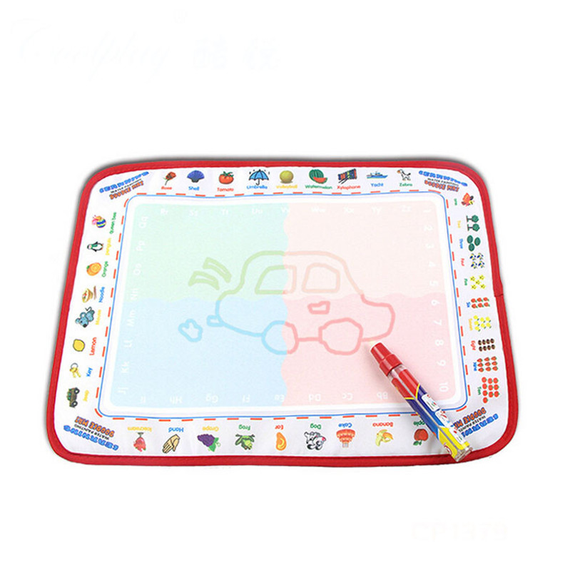 TS Water Drawing Painting Writing Mat Board Magic Pen Doodle Toy Gift 39X29cm