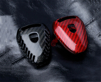 Car Remote Key Shell Protective Case For Porsche Boxter 911 997 Boxster 987 Cayman Real Carbon Fiber Red/ Black