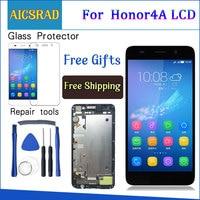 AICSRAD Geprüft Arbeits LCD Display Touchscreen Digitizer Montage MIT RAHMEN Für Huawei Honor 4A Y6 SCL L01 SCL L21 SCL L04|lcd display touch screen|touch screen digitizerdisplay lcd touch screen -