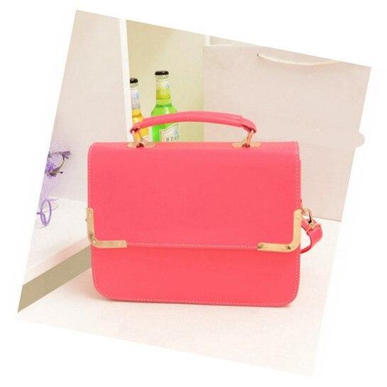 d6683db84669 Ecosusi ярких цветов женские сумки через плечо свежий женские кожаные сумки  довольно Crossbody сумки розовый зеленый