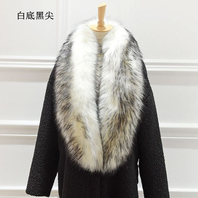 New arrival Lady Blinger super long wide faux fur shawl raccoon fur scarf wide fake fox fur pashmina wraps stole