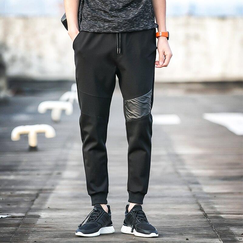 Casual Sweatpants Men 2018 New Arrival Solid Long Pants Black Fashion Male Cotton Trousers Elastic Waist Style High Quality C17